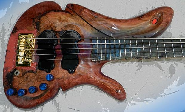 JanAid Guitars: Bob Abbott Yolanda 5 Bass
