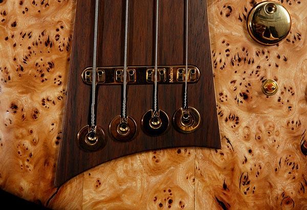 Marleaux Diva Custom Bass - bridge closeup