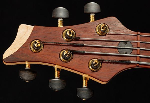 Marleaux Diva Custom Bass - headstock