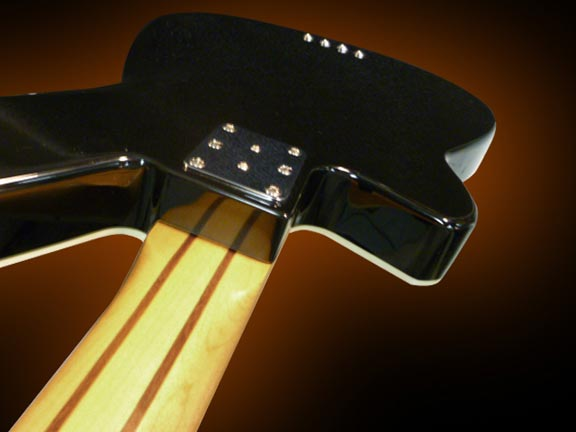 Reverend Decision Bass - Black finish back view