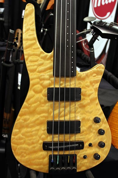NS Design Headless Bass Guitar - Fretless closeup