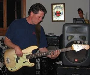 Mark Anderson - 1963 Fender Shoreline Gold Precision Bass