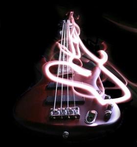 Bass on fire