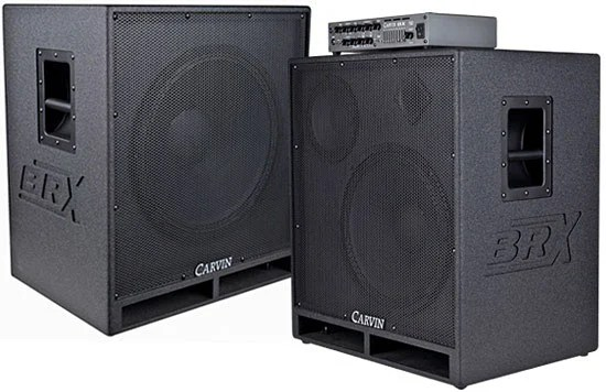 Carvin Introduces BRX15.3 and BRX18.1 Bass Cabinets