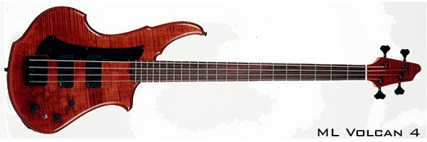 ML Basses Volcan 4-string Red Bass