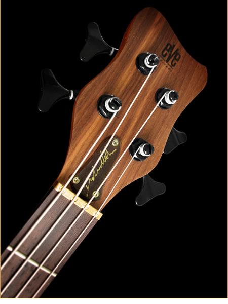 Eve Guitars Elite Fretted 4 bass - headstock