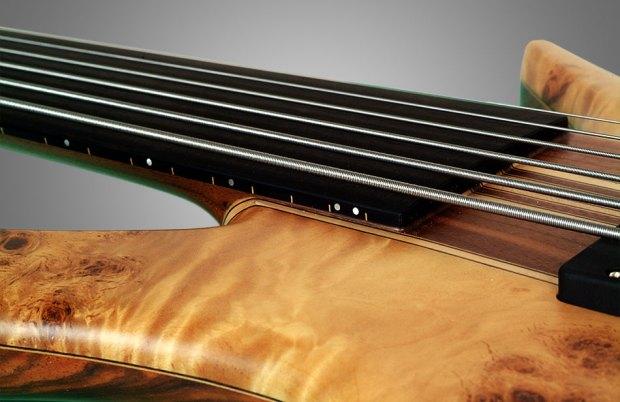 GMR Bass Guitars Bassforce NT - end of fretboard