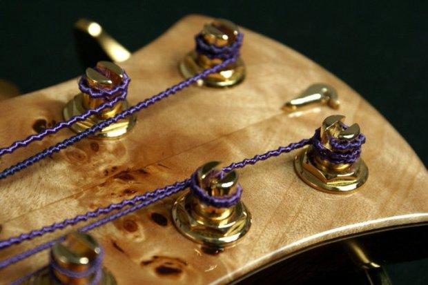 Aries Basses Senes Bass - headstock closeup