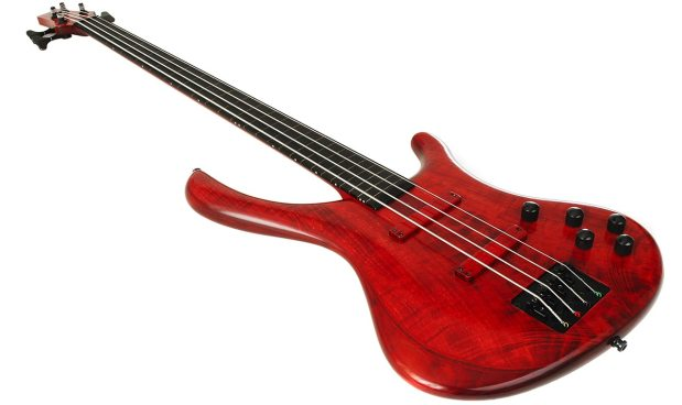 Blasius Bali Fretless Bass - angled view
