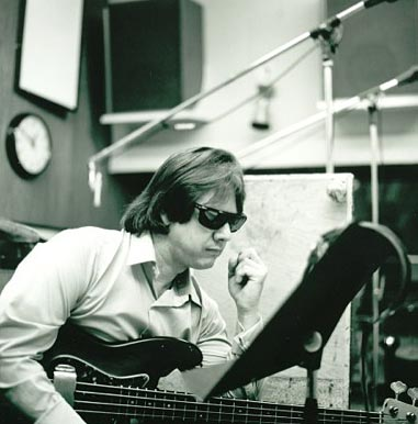 Joe Osborn in studio