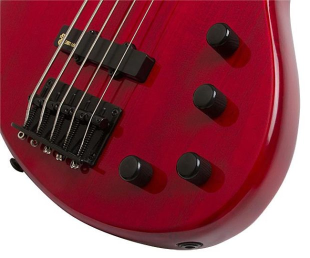 Epiphone Toby Deluxe-V Bass - controls