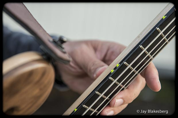Les Claypool with Personal Pachyderm Prototype Bass fret markers