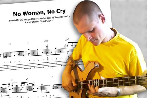 "Transcription: ""No Woman, No Cry"" Solo Bass Arrangement"