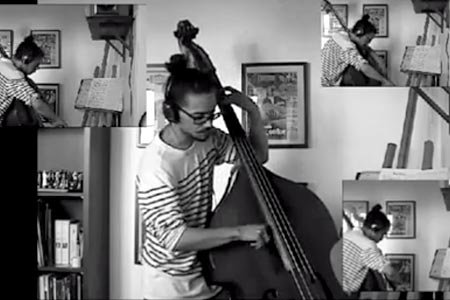 "Mathieu Verlot: ""Little Wing"" Live Double Bass Arrangement"