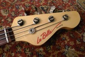 La Bella Olinto Bass Headstock