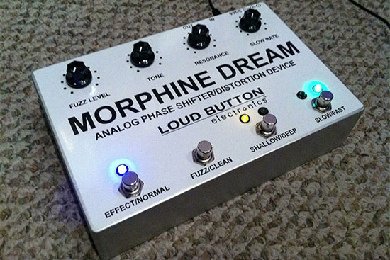 Loud Button Electronics Introduces Morphine Dream Distortion/Analog Phaser Pedal