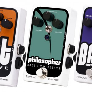 Pigtronix Introduces Three New Bass Effects Pedals