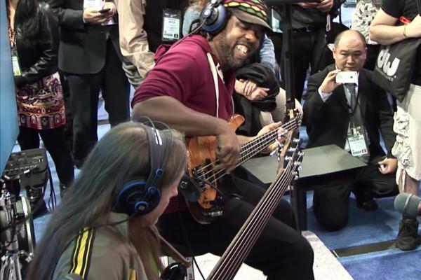 "Victor Wooten, Steve Bailey and David ""Fingers"" Haynes: 2013 NAMM Jam"