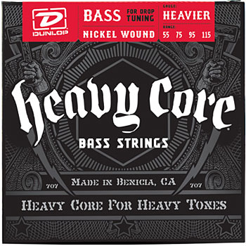 Dunlop Goes Lower with New Heavy Core Bass Strings