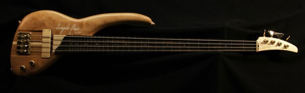 SimpleBass e4 Fretless - Three Views