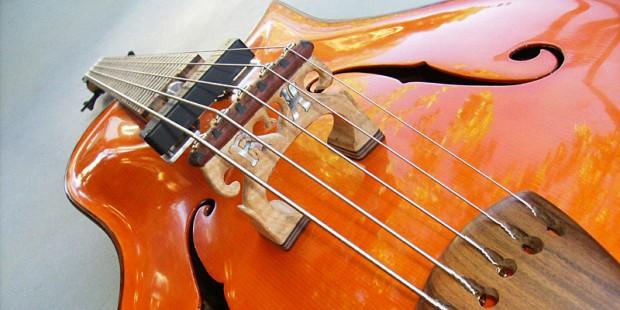KB Guitars Robert Hurst Acoustic Bass - closeup