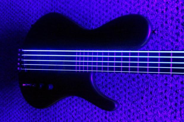 DR Strings NEON Hi-Def White Bass Strings - UV light