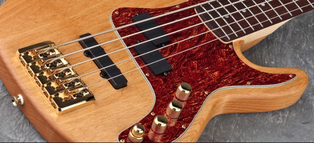 Carvin PB5 bass body closeup