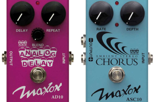 Godlyke Announces Maxon AD10 Analog Delay and ASC10 Stereo Chorus Pedals