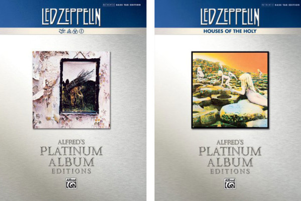 Alfred Music Releases Four More Led Zeppelin Platinum Bass Titles
