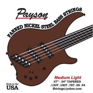 Payson Introduces Fanned Nickel Steel Medium Light Bass Strings