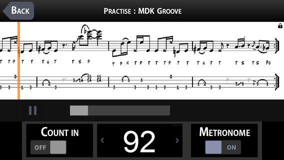 Beginning Slap Bass with MarloweDK screen example 4