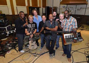 Nathan East in studio