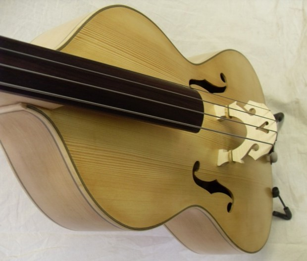 Toby Chennell Arco Acoustic Bass Guitar - top perspective