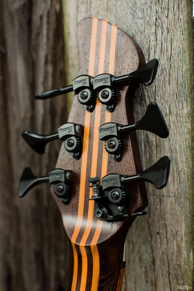 "Adam ""Nolly"" Getgood's G-Spot Basses Temptress Bass headstock back"