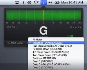 SteadyTune Rotator Tunings screen example