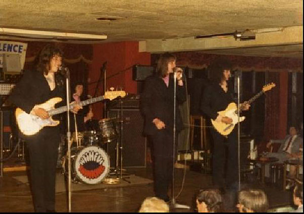 Wishful Thinking with Tony Collier on the left playing the '63 Precision Bass (1970)