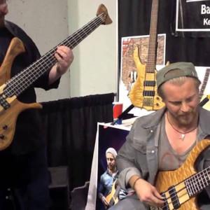 Hadrien Feraud and Federico Malaman: Cherokee Jam at NAMM 2014