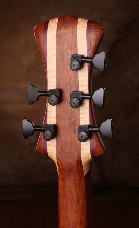 Zoov Guitars Classic 5 Bass - Back of headstock