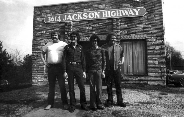 David Hood with Muscle Shoals Owners