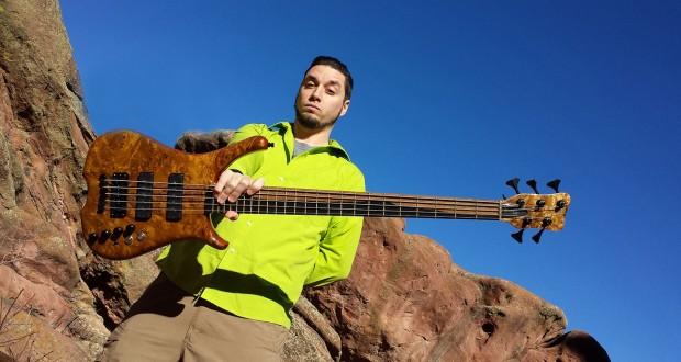 Nick Schendzielos with his Warwick Custom Shop Infinity 5 Bass