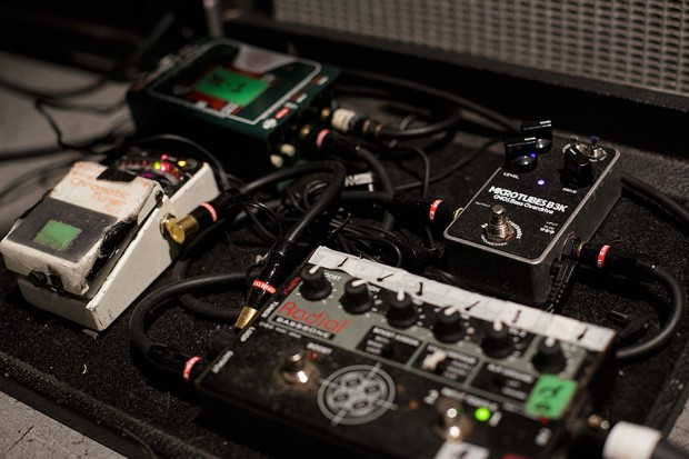 Alex Webster's Pedal Board