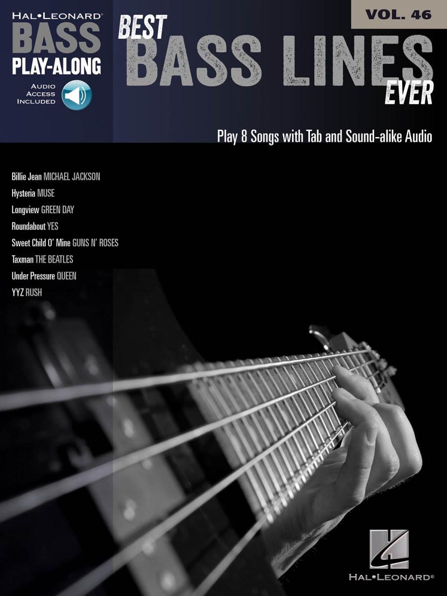 "Hal Leonard Releases ""Best Bass Lines Ever"" Bass Play-Along"