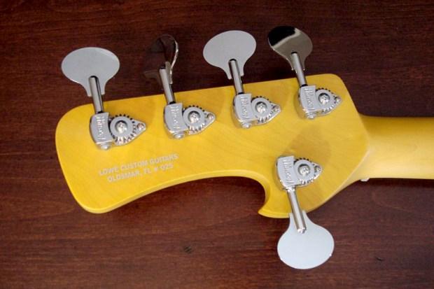 Lowe Custom Guitars Chromasonic 5-String Bass - back of headstock