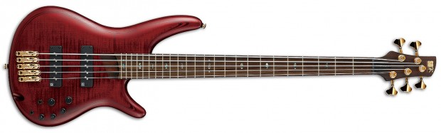 Ibanez SR Premium 1405E Bass with Dark Red Stained Flat finish