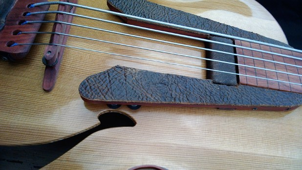 Whitt Guitars 5-String Fretless Archtop Acoustic Bass - Leather