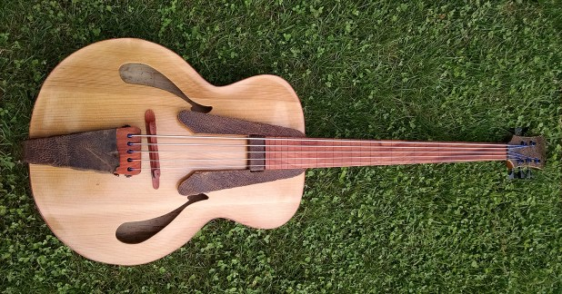bass of the week whitt guitars 5 string fretless archtop acoustic bass. Black Bedroom Furniture Sets. Home Design Ideas