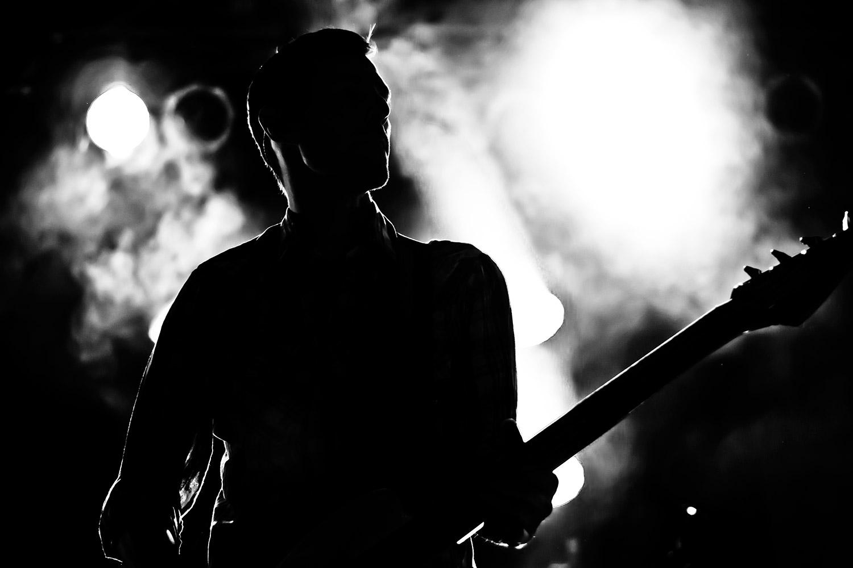 Bassist on stage