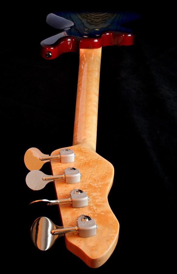 M-Tone Guitars Boki Bass - back, head down