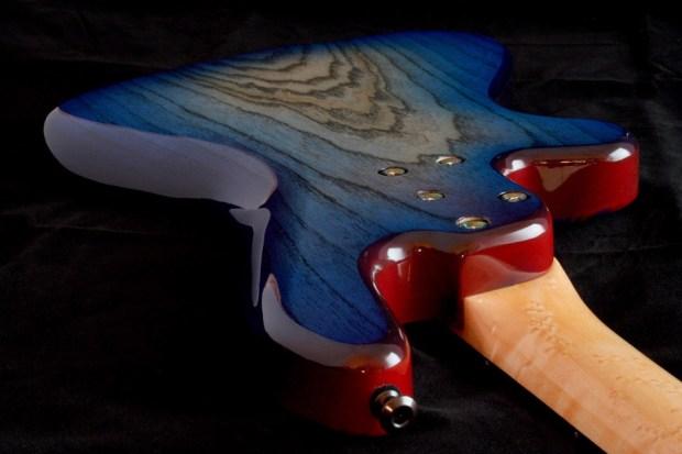 M-Tone Guitars Boki Bass - body back, top perspective