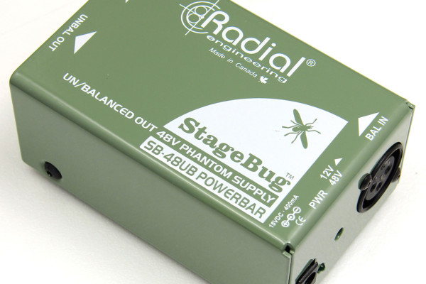 Radial Engineering Now Shipping Stagebug SB-48UB